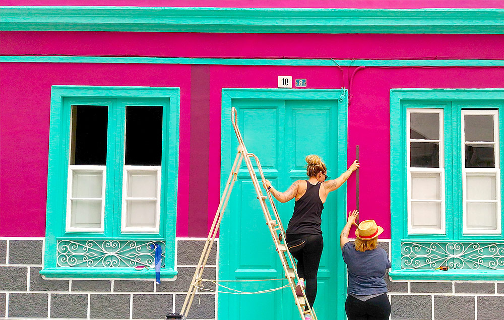 Fachadas con apodo, Puerto Street Art, Mueca, Puerto de la Cruz