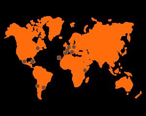mapa países origen compañías en Mueca