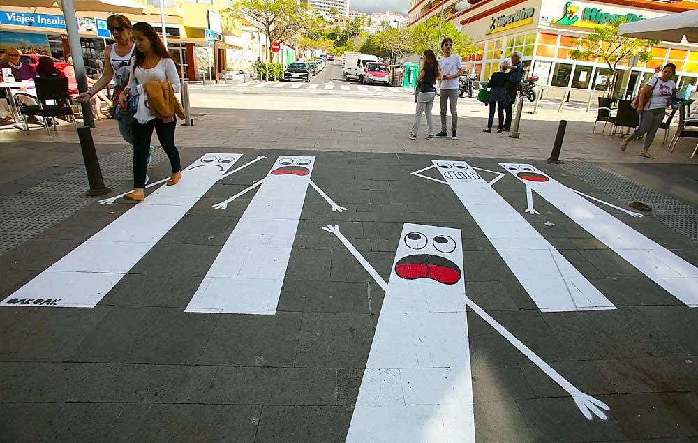 OakOak, Puerto Street Art, Mueca, Puerto de la Cruz