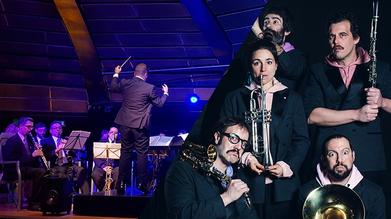 Pistacatro y la Banda de música Puerto de la Cruz